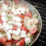 Garnelen-Pfanne mit cremiger Feta-Ouzo-Sauce vom Grill