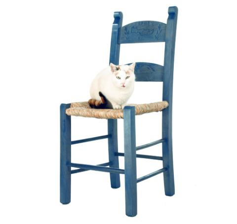 Kafenion Stuhl in Blau