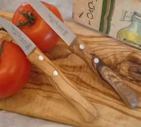 Küchenmesser mit Olivenholzgriff