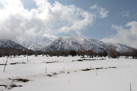Ungewohnt: Schneebedeckte Landschaften auf Kreta